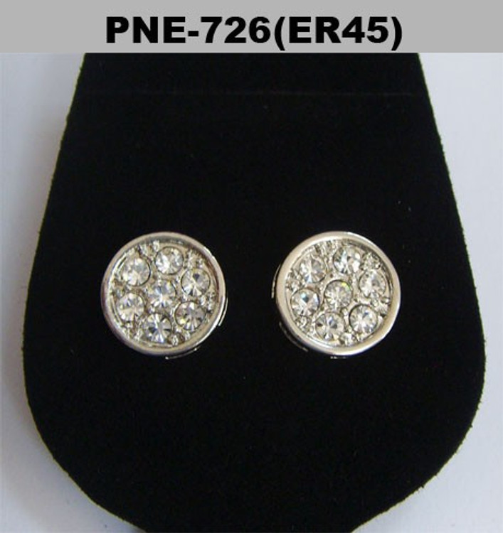 Deep Set Silver Diamond Cz Iced Out Earrings