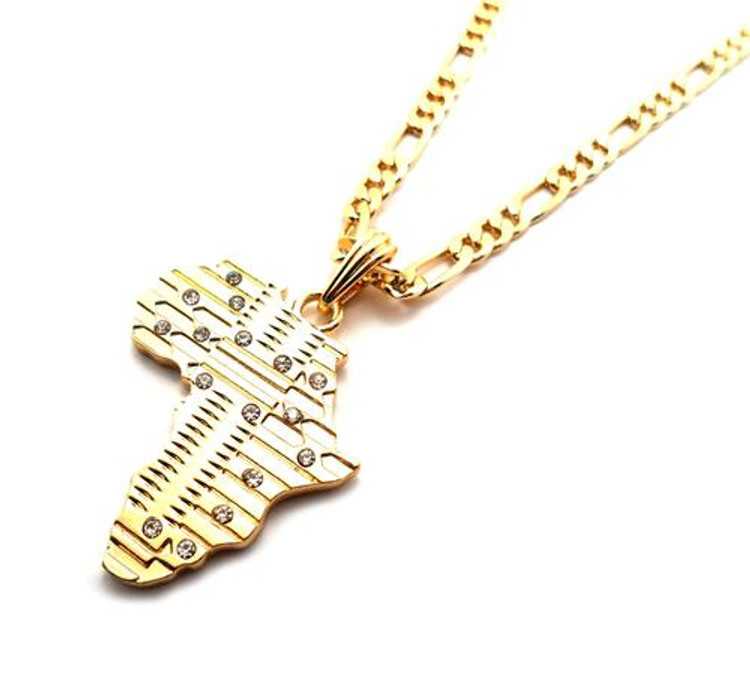 Mother Africa Cz Pendant Gold