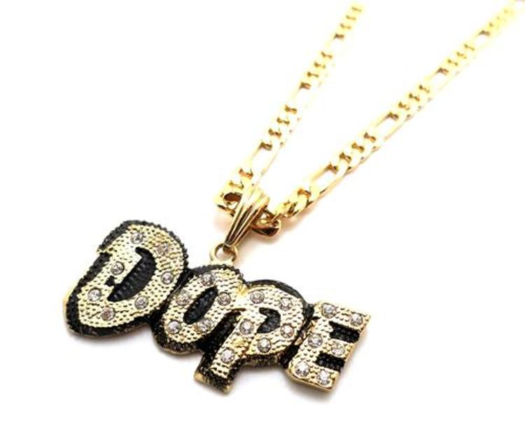 Chris Brown Inspired Dope Hip Hop Pendant Gold
