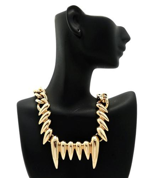 14k Gold Celebrity Inspired Claw Chain Necklace