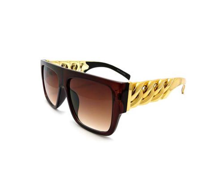 Celebrity Lil Wayne Inspired Stunna Shades Sunglasses Brown