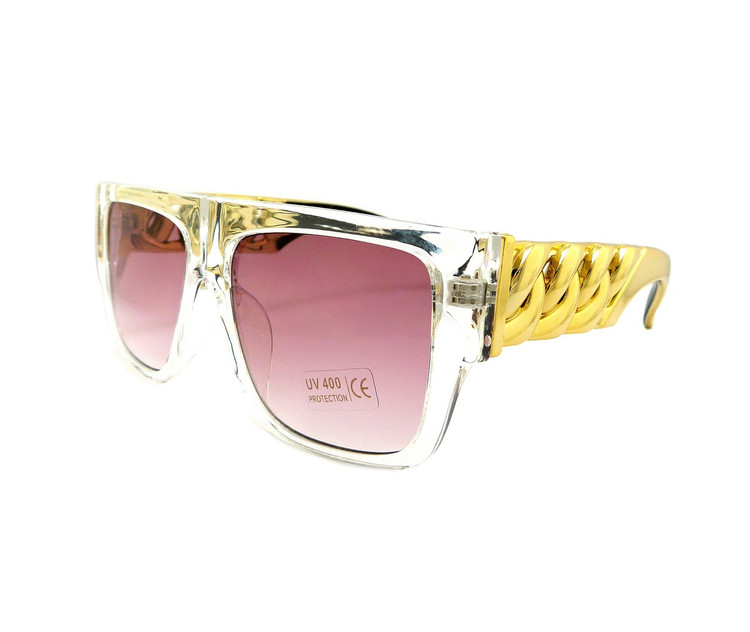 Celebrity Inspired Hip Hop Stunna Shades Sunglasses Purple