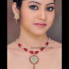 Gold Plated Accented with Cubic Zircons Thewa Necklace Set