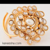 Traditional Gold Plated Faux Pearl Ring