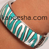 Zibra Print Enamel Bangle Bracelet Women Jewelry