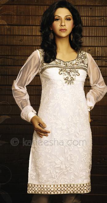 Net Layered Designer Plus Size Tunic Top