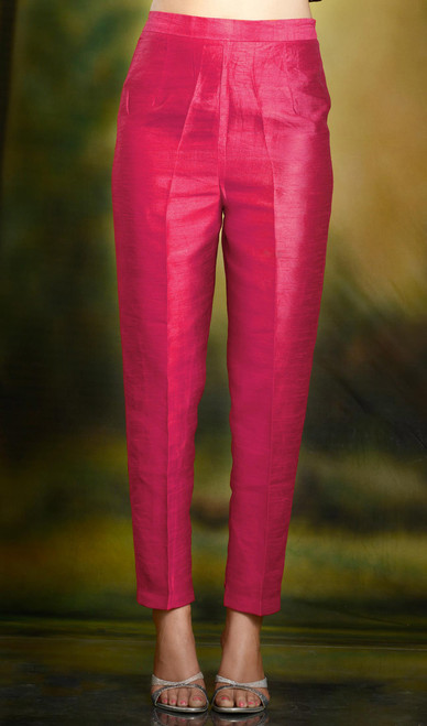 Formal Cigarette Pants Pencil Fit Trousers Baby Pink