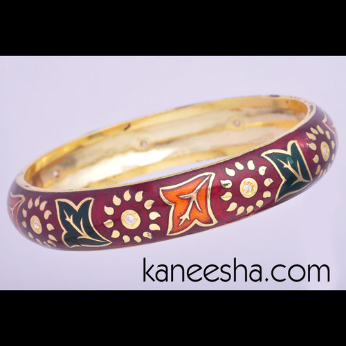 Meenakari Goldplated Bangle - 50% price reduction