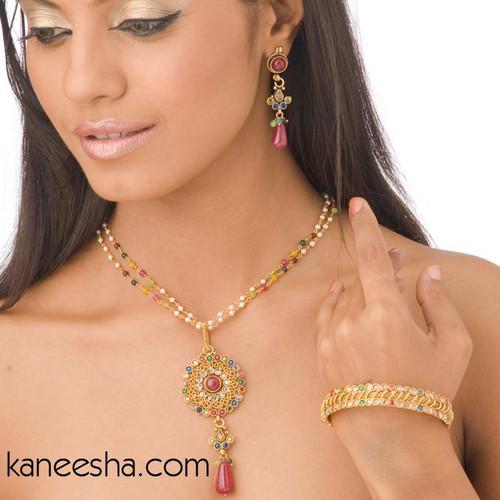 Polki Goldplated Bangle Bracelet-50% price reduction
