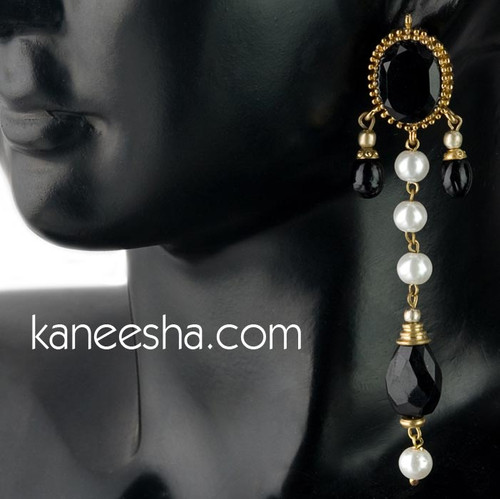 Black Traditional Earrings - 40% price reduction