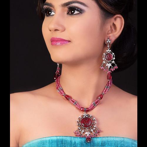 Pink Necklace Set