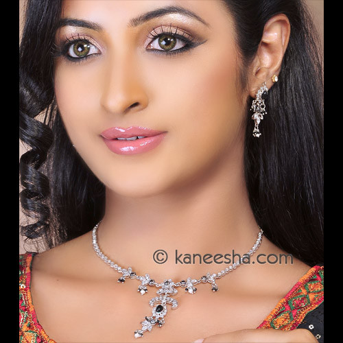 Polki Silver Necklace Set