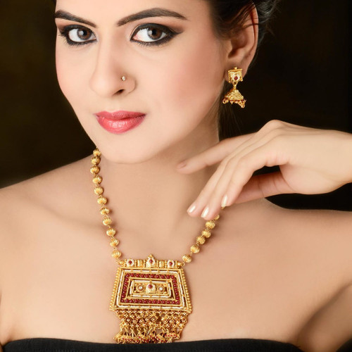 Gold Plated with Pearl Necklace