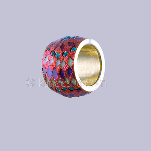 Silver Fashion Ring with Multi Color Enamel