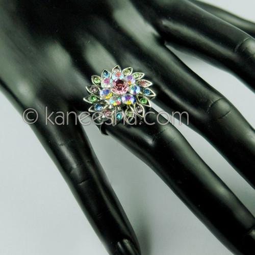 Stylish Silver Multicolor Fashion Ring