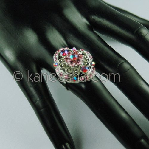 Multi Color Silver Fashion Ring