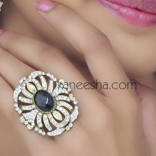Gold Plated Cubic Zirconia Fashion Ring