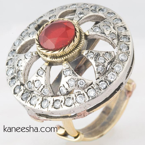 Unique Golden & Silver Indian Ring
