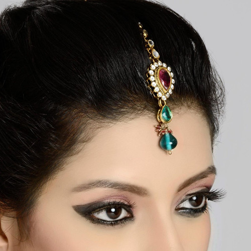 Headpiece Tikka in Zircon Diamond Studded