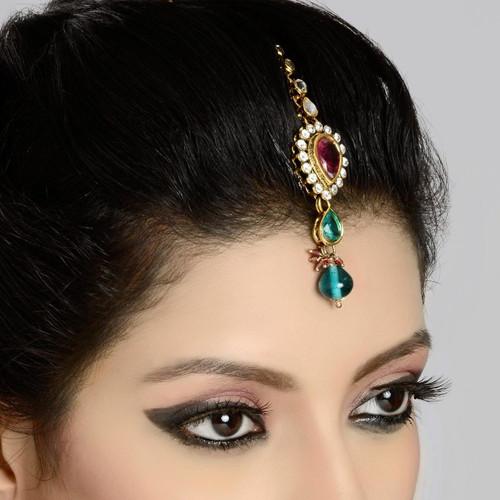 Headpiece Tikka in Zircon Diamond Studded