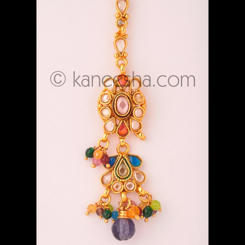 Exclusive Gold Plated Headpiece Tikka