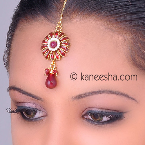 Enameled Headpiece Tikka