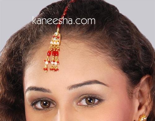Indian Traditional Goldplated Headpiece Tikka