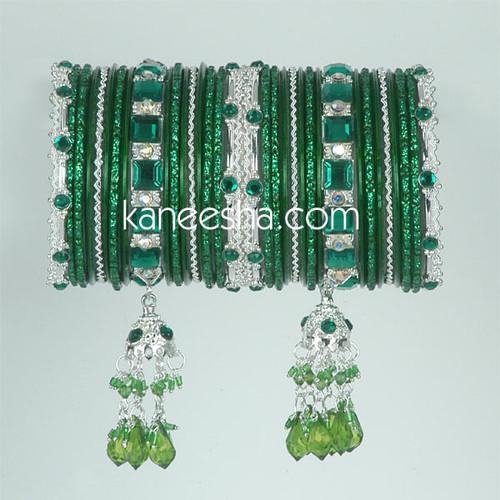 Green Fashion Bangles