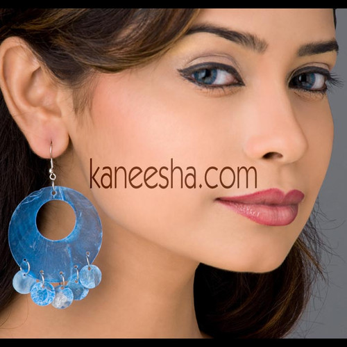 Royal Blue Earrings from India