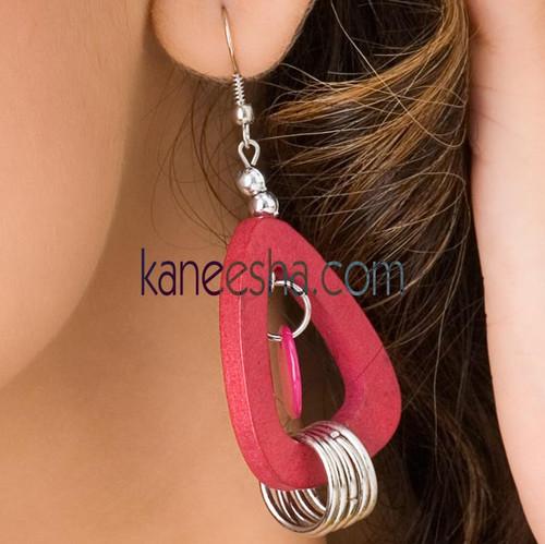 Triangle Wooden Earrings