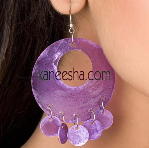 Purple Mother of Pearl Earrings