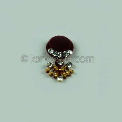 Traditional Bridal Jeweled Deep Red Bindi