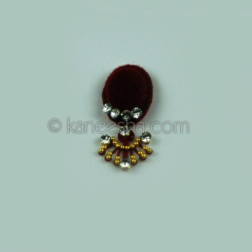 Red Bindi Traditional Bridal Jeweled Deep