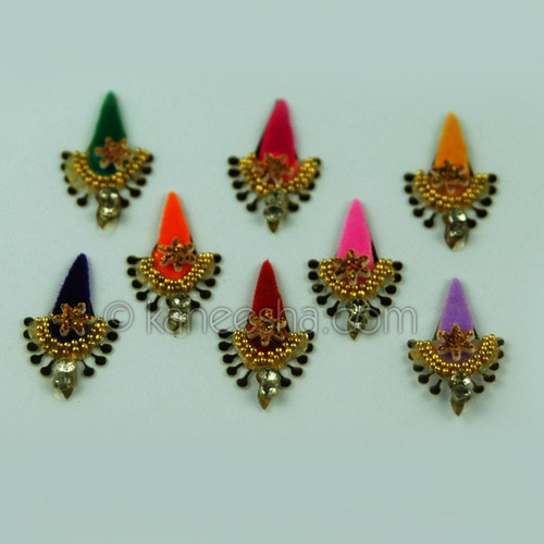 Beautiful Multi Colored Long Bindis