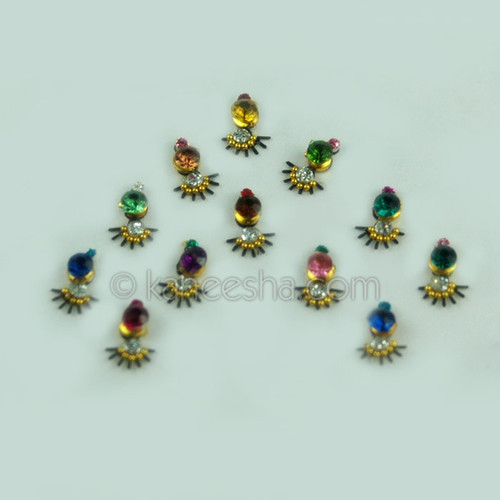 Fancy Bindis Bridal Multi Color  (Dots)
