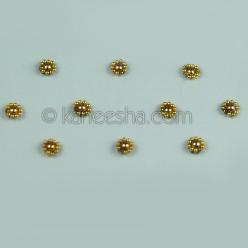 Golden Beaded Delicate Bindi
