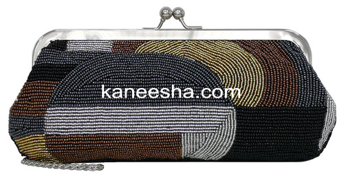Multi Color Fully Beaded Clutch Purse