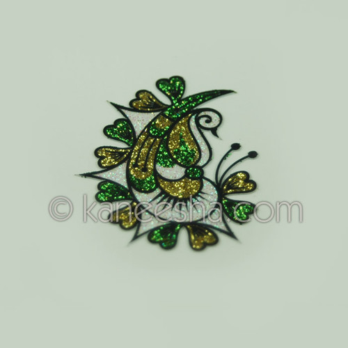 Green and Gold Color Tattoo