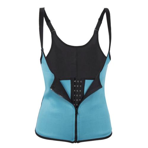 Sky Blue Waist Trainer Clip & Zip Double Layer Neoprene Body Shaper Waist Cincher Lumbar Support FREE Shipping.