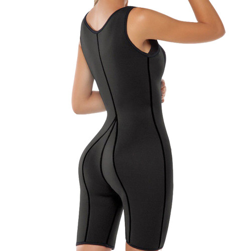 Black Neoprene Waist Trainer Body Suit Sauna Suit Body Shaper Waist Cincher Bodysuit FREE Shipping.
