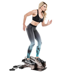 Bionic Body Compact Elliptical Trainer with Resistance Tubes in use by Kim Lyons