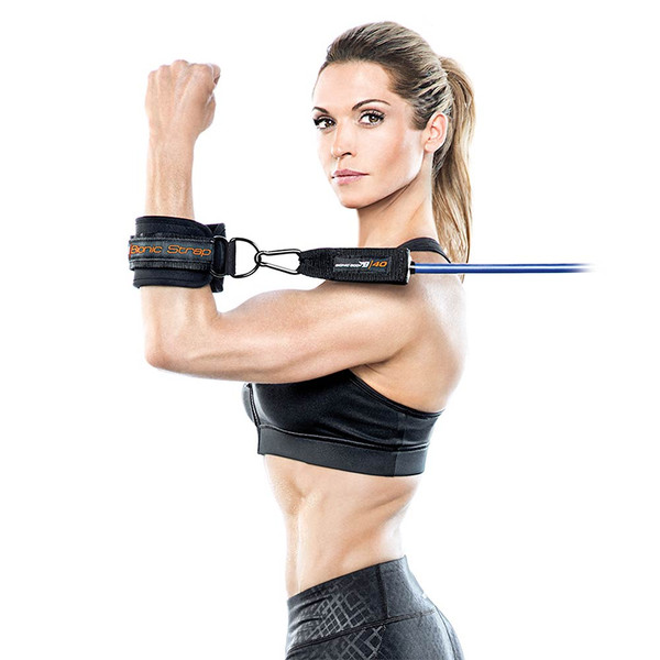 The Bionic Body Resistance Band Kit includes a wrist strap to tone your arms