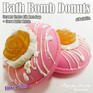 Flower Bomb Bath Bomb Donut - 130g