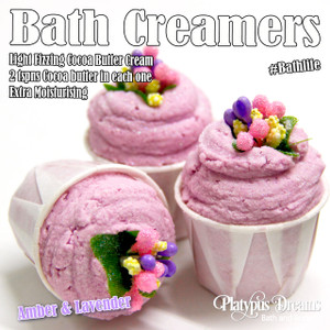 Amber and Lavender Bath Creamer