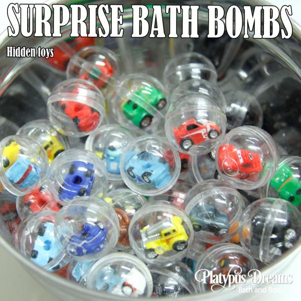 Surprise Bath Bomb - Toy inside - 170g - Yellow-Green-Blue