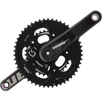 SRAM Quarq S975 GXP Powermeter Crankset 172.5mm 53-39 Black Rings Bottom Bracket Not Included