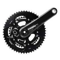 SRAM Quarq S975 BB30 Powermeter Crankset 172.5mm 50-34 Black Rings; Bottom Bracket Not Included
