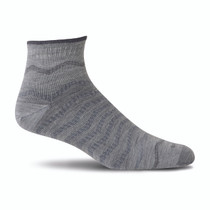 Sockwell Men's Plantar Ease Quarter Firm Compression Sock - 2018