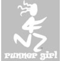 BaySix Runner Girl Clear Window Decal - 2018