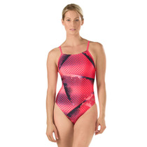 Speedo Women's Interrupted Dot Free Back Swimsuit